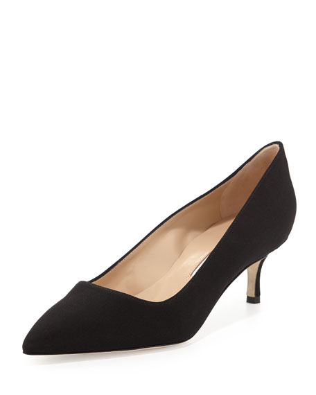 Manolo Blahnik BB Crepe 50mm Pump, Black