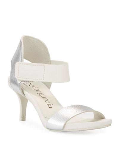 Wendelin Leather Low-Heel Sandal