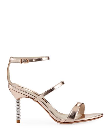 Rosalind Metallic Sphere-Heel Sandal