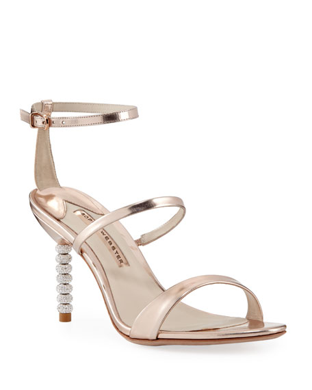 Sophia Webster Rosalind Metallic Sphere-Heel Sandal