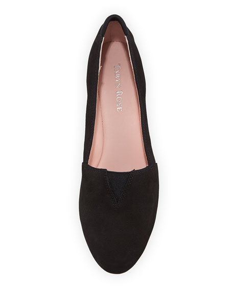 Suede Low-Wedge Slip-On Pump