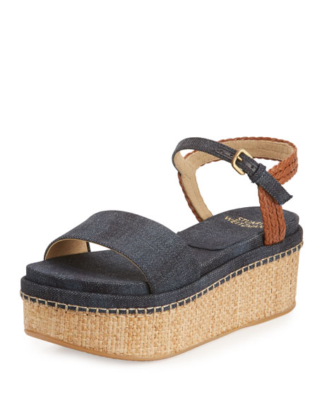 Yourway Denim Platform Sandal