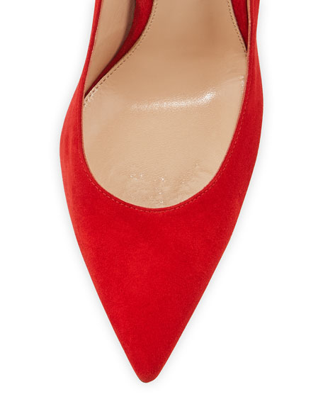 Suede Point-Toe Pump