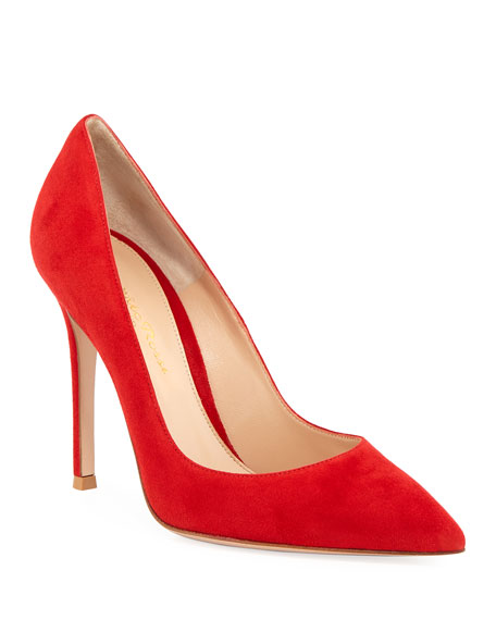 Gianvito Rossi Suede Point-Toe Pump
