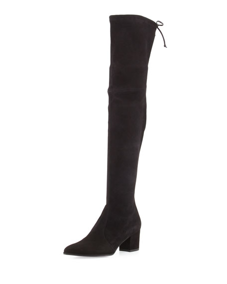 Stuart Weitzman Thighland Suede Over-The-Knee Boot, Skin