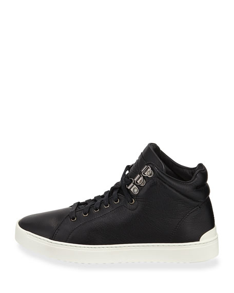 Kent Leather Platform High-Top Sneakers