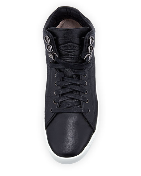 Kent Leather Platform High-Top Sneaker