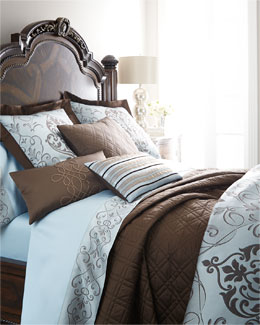 Eastern Accents Azure Ornato Bedding