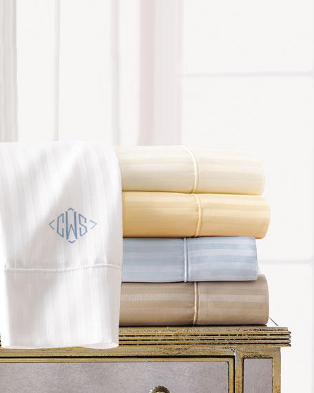 Two Extra Standard 600 Thread Count Pima Stripe Pillowcases