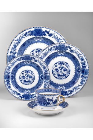 Mottahedeh Imperial Blue Bread & Butter Plate Imperial Blue Cup & Saucer Set