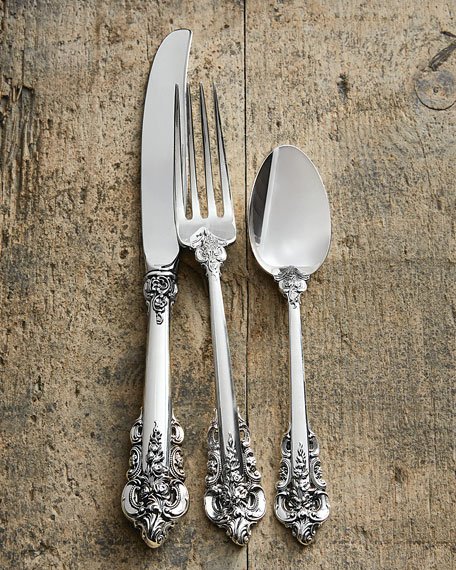 wallace silversmiths 66 piece grande baroque flatware service matching items neiman marcus