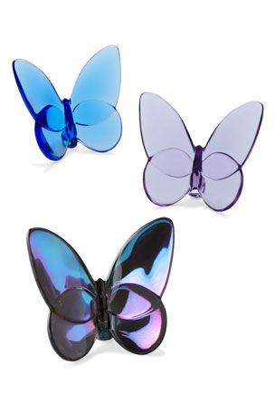 "Baccarat ""Lucky"" Butterfly, Purple ""Lucky"" Butterfly, Ruby"