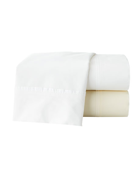 Two Marcus Collection King 600 Thread Count Solid Percale Pillowcases