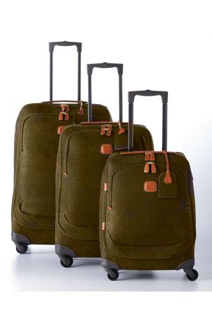 "Bric's Life Olive 32"" Spinner Luggage Life Tri-Fold Traveler Bag Luggage"