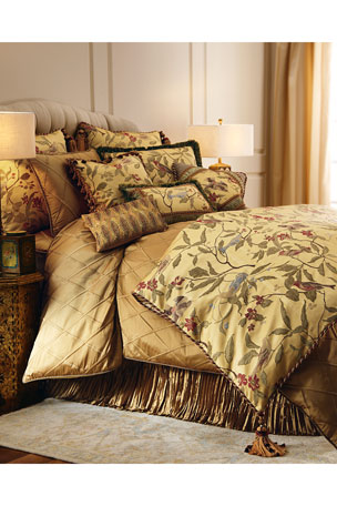 Austin Horn Collection King Chirping Bird Duvet Cover Queen Chirping Bird Duvet Cover