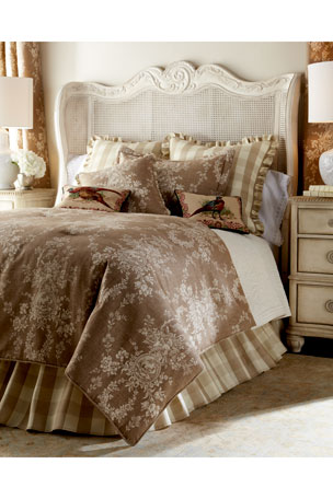 "Sherry Kline Home Country House Checked European Sham Country House Toile/Check Reversible Pillow, 18""Sq."