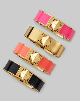 kate spade new york pyramid lock thin bangle