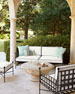 Avery Neoclassical Outdoor Lounge Chair & Ottoman