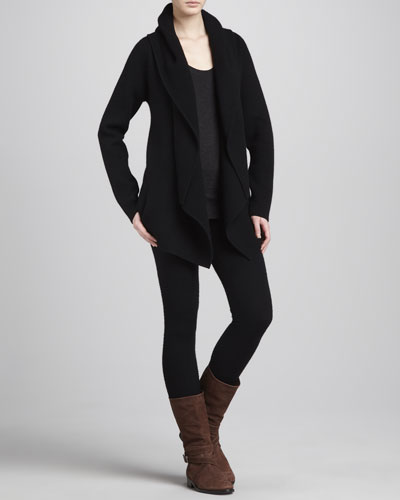 Donna Karan Hooded Cashmere Cozy Cardigan, Melange Tank & Leggings