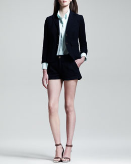 Rag & Bone Nancy Shrunken School Blazer, Boyd Tab-Sleeve Shirt & Harper Shorts