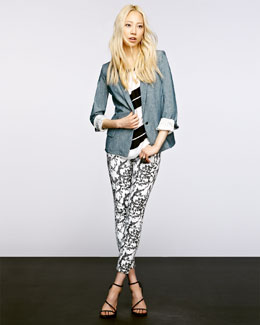 ALC Chambray Blazer, Chavelli Top & High water Jeans