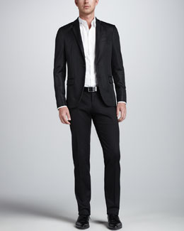 "DSquared2 Two-Button Mesh Suit Separates & ""Call Me"" Dress Shirt"