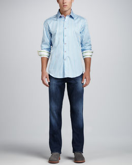 Robert Graham X-Collection Lanai Sport-Shirt & Dark Wash Jeans