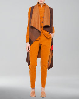 Akris Colorblock Flannel Gilet, Cotton-Cashmere Corduroy Jacket & Corduroy Pants