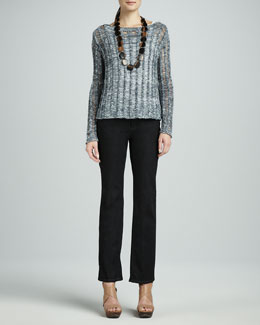 Eileen Fisher Wonder Needle-Stitch Top, Organic Cotton Slim Tank & Organic Soft Straight-Leg Jeans