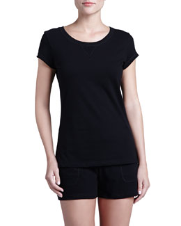 Cosabella Khloe Cap-Sleeve Top & Drawstring Shorts