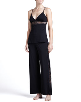 Cosabella Ace of Hearts Lace-Inset Camisole & Lounge Pants