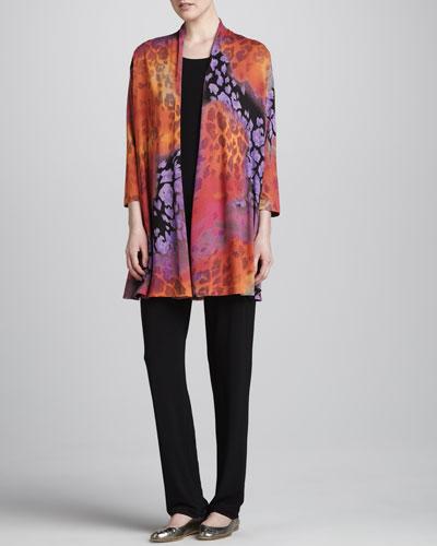 Caroline Rose Kaleidoscope-Print Cardigan, Tunic-Length Tank & Stretch-Knit Slim Pants