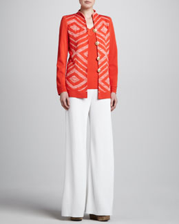 Misook Collection Inez Jacket, Sylvia V-Neck Tank & Palazzo Pants
