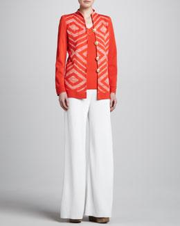 Misook Inez Jacket, Sylvia V Neck Tank & Palazzo Pants, Women's
