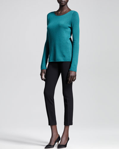 THE ROW Cashmere Scoop-Neck Top & Scuba Cropped Skinny Pants