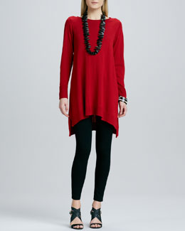 Eileen Fisher Merino Jersey Layering Dress & Jersey Leggings, Petite