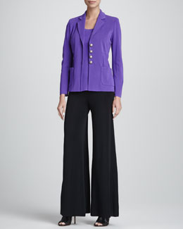 Misook Angelique Four-Button Jacket, Amy Tank, Palazzo Pants