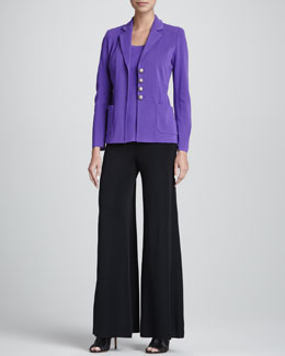 Misook Angelique Four-Button Jacket, Amy Tank, Palazzo Pants, Petite