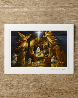 Carlson Craft Radiant Nativity Christmas Cards