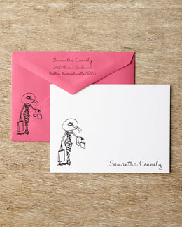 Carlson Craft Diva Correspondence Cards with Personalized Envelopes