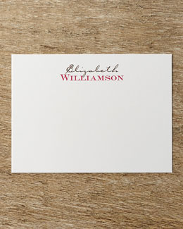 Two-Tone Correspondence Cards with Personalized Envelopes