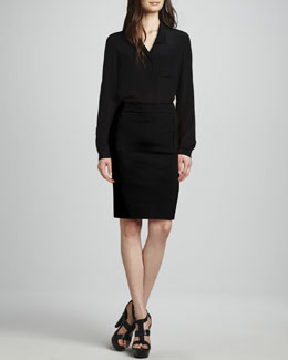 Diane von Furstenberg Lorelei Button-Front Top & New Koto Skirt