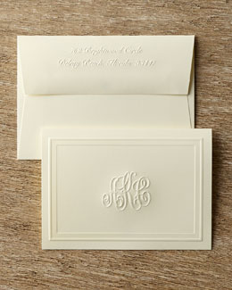Monogrammed Embossed Folded Notes
