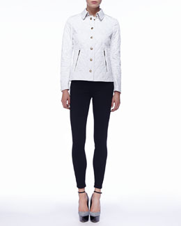 Burberry Brit Zip-Pocket Quilted Jacket & Ankle-Zip Skinny Jeans