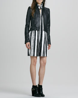 Rachel Zoe Quilted Zip Jacket & Muse Dress