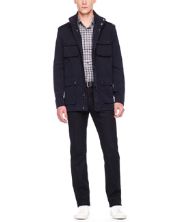 Michael Kors  Tech Utility Jacket & Chauncey Check Shirt