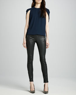 J Brand Ready to Wear Cowley Top & Morgan Leather Pants