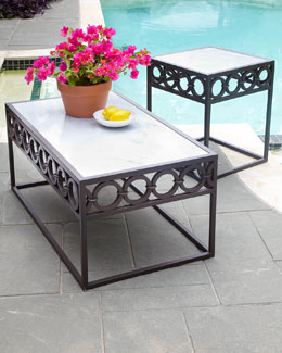 Marble-Top Outdoor Tables