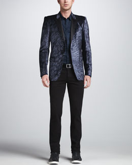 Just Cavalli Leopard-Print Blazer & Solid Long-Sleeve Shirt