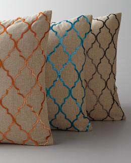 Jamie Young Moorish Lattice Sequined Pillows